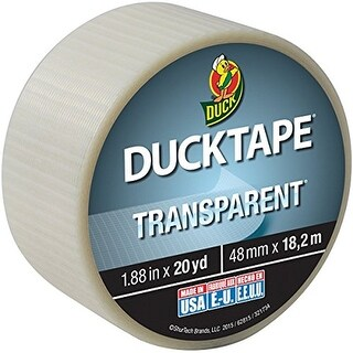 Clear Duck Tape® Brand Duct Tape Transparent 1.88 inch x 20 yard Roll