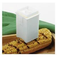 """Norpro 5400 Corn Butter Spreader,  3"""" x 1-3/4"""", White"""