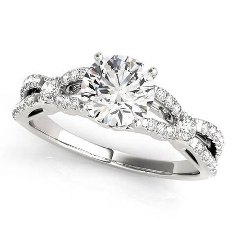 Auriya 14k Gold 1ctw Braided Moissanite and Diamond Engagement Ring 1/4ctw TDW