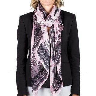 Roberto Cavalli Women's Floral Lace Print Silk Scarf Large