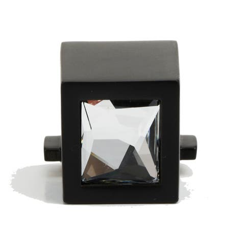 "Alno C2670 1/2"" Square Crystal Cabinet Ring Pull Mount -"