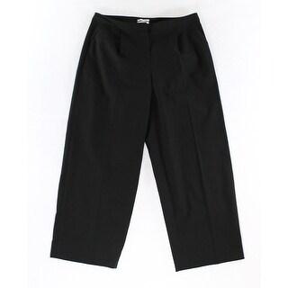 Halogen NEW Solid Deep Black Women's Size 2X30 Pleated Dress Pants