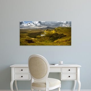 Easy Art Prints Panoramic Image 'Elevated View from Quiraing at Trotternish Ridge, Isle of Skye, Scotland' Canvas Art