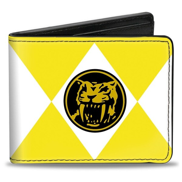 Diamond Yellow Ranger Saber Toothed Tiger Coin Bi Fold Wallet - One Size Fits most