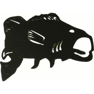 """Bass Metal Silhouettes - Size - 3"""" width - Color - black"""