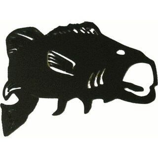 """Bass Metal Silhouettes - Size - 6"""" width - Color - black"""