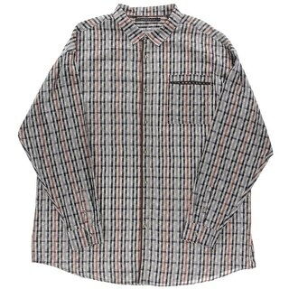 Sean John Mens Big & Tall Button-Down Shirt Cotton Checkered