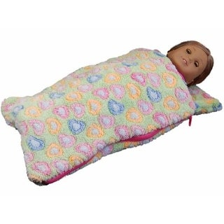 18 in. Doll Sleeping Bag for American Girl Dolls, Green