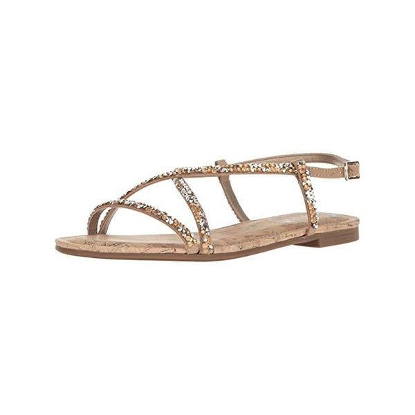 Circus by Sam Edelman Womens Hilary Flat Sandals Embellished Cork