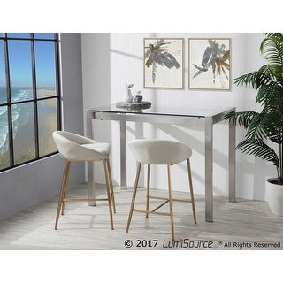 LumiSource Fuji Contemporary Stainless Steel Counter Table