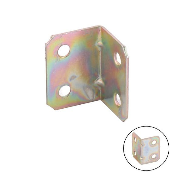 BT2 Light Brown Colour 20 x sossai/® Metal Zinc Plated Corner Brace Bracket//Furniture Joint Connector with Cover