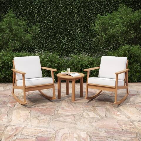 Patio Rocking Chair - Eucalyptus - Beachfront Collection - 3-Piece