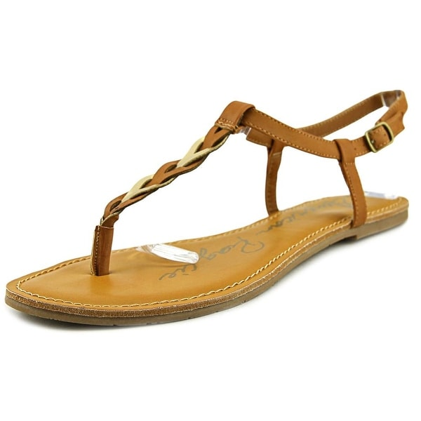 American Rag Krissy Women Open Toe Synthetic Tan Thong Sandal