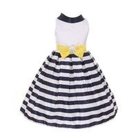 1ca1bfbde Shop Crayon Kids Girls Black White Satin Stripes Flower Girl Easter ...