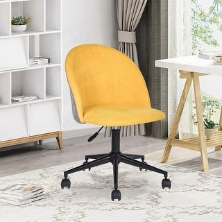 Link to Porch & Den Wagontrain Two-tone Velvet Upholstery Home Office Swivel Chair Similar Items in Home Office Furniture