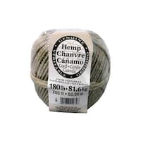 Darice Natural Hemp Cord Ball 180# 200 ft