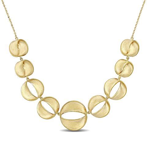 Miadora 18k Yellow Gold Graduated Open Circle Necklace