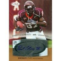 David Clowney Autographed Football Card Virginia Tech 2007 Sage No