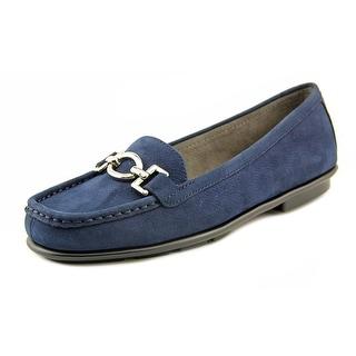 Aerosoles Hazelnut Women Square Toe Leather Blue Loafer