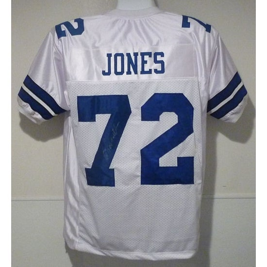 47cb31a575c Shop Ed Too Tall Jones Autographed Dallas Cowboys White Size XL Jersey - Free  Shipping Today - Overstock - 13484304
