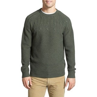 Wallin & Bros NEW Green Thyme Mens Size Large L Crewneck Wool Sweater