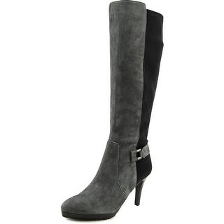 Tahari Greyson Pointed Toe Suede Knee High Boot