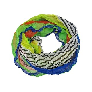 Brightly Colored Striped Lightweight Ring Scarf