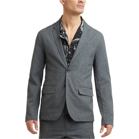 Kenneth Cole Mens Tech Mesh Two Button Blazer Jacket