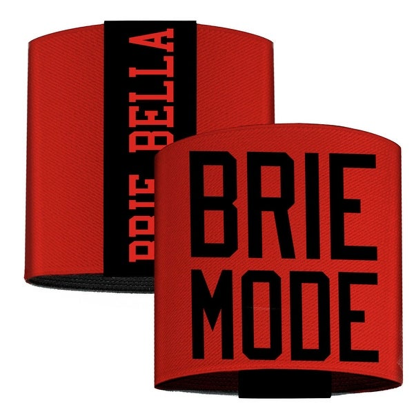 Brie Bella Brie Mode Red Black Elastic Wrist Cuff