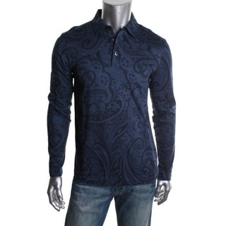 Michael Kors Mens Cotton Paisley Button-Down Shirt - M