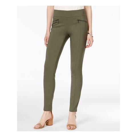 BAR III Womens Green Zippered Creased Wear To Work Pants Size XXS