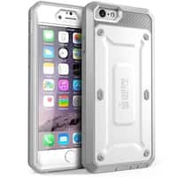 "SUPCASE Apple iPhone 6 4.7"" Case - Unicorn Beetle Pro Series Protective Cover with Built-in Screen - White/Gray"