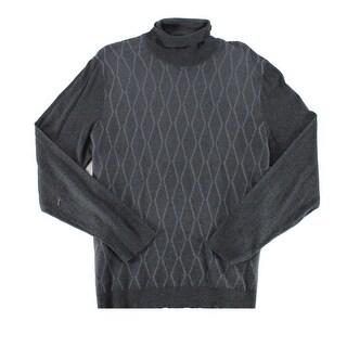 Alfani Charcoal Heather Gray Mens Size Large L Turtleneck Sweater