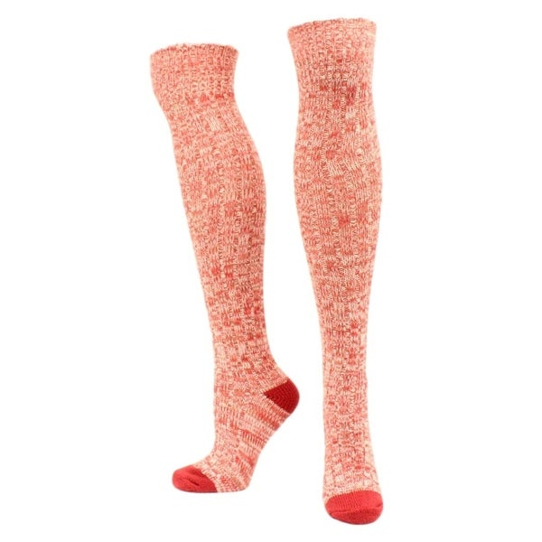 Ariat Socks Womens Comfort Above Knee Marbled OSFA Red - One size