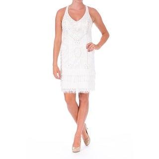 Sue Wong Womens Embellished Halter Wedding Dress - 6