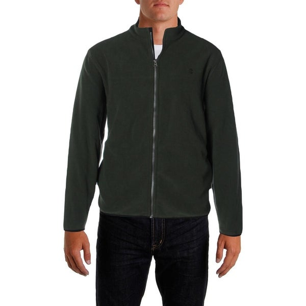 Izod Mens Basic Jacket Fleece Mock Neck