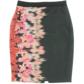T Tahari Womens Textured Printed Pencil Skirt - 8