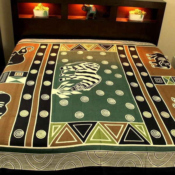 Indian Animal Print Bed Sheet Cover Spread Wall Hanging Tapestry Decor Art