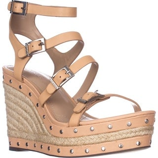 Charles by Charles David Larissa Wedge Sandals, Nude