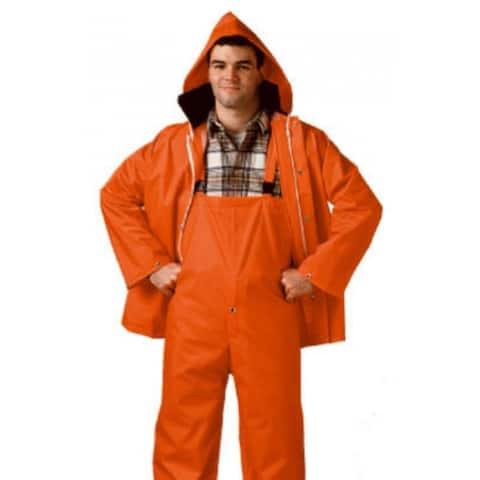 Comfort-Tuff S63219-MD Jacket & Bib Rainsuit, Medium, Blaze Orange