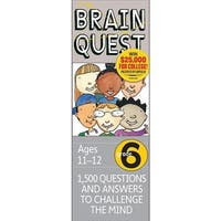 Brain Quest 16656 Brain Quest 6th Grade 320 Page Workbooks