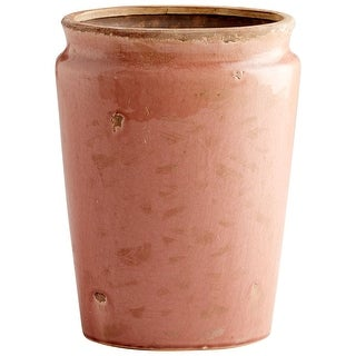 "Cyan Design 09073  Aleena 9-1/4"" Diameter Terracotta Planter - Heather Rose Glaze"