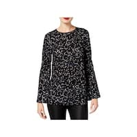 MICHAEL Michael Kors Womens Blouse Bell Sleeves Metallic