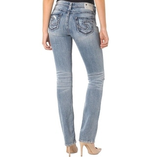 Silver Jeans Co. Womens Suki Baby Bootcut Jeans High Waist Well Defined Curve