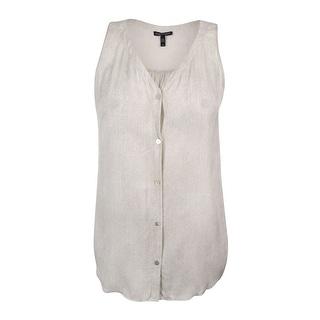Eileen Fisher Women's 100% Silk Sleeveless Tank Top