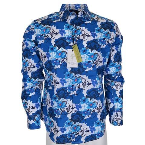 Robert Graham Men's KNOBOAK Cotton Button Down Sports Dress Shirt