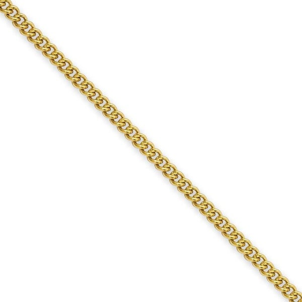 Stainless Steel IP Gold-plated 2.25mm 18in Round Curb Chain (2.3 mm) - 18 in