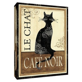 """PTM Images 9-154430  PTM Canvas Collection 10"""" x 8"""" - """"Le Chat"""" Giclee Cats Art Print on Canvas"""