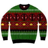 Marvel Comics Deadpool Navidad-2 Men's Ugly Christmas Sweater