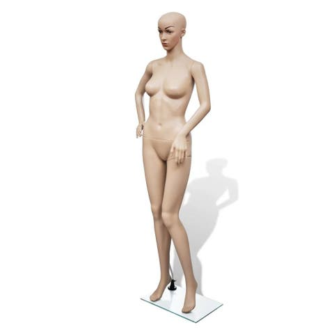 vidaXL Female Mannequin Full Body Realistic Display Head Turn w/ Base Model